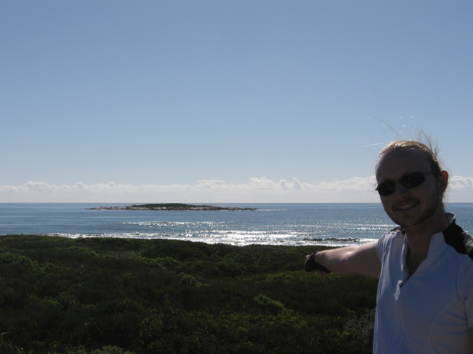 Me with my namesake island..