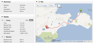 Map of day 1 on Kangaroo Island