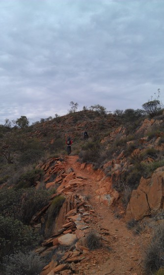 Walking back along the Larapinta Trail. I'll get started on it soon I swear!