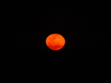 Full Moon, blood red with desert dust. Just amazing!