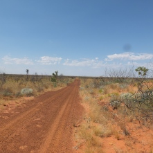 Road over sand dunes!