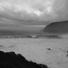 Waves breaking off shore. The swell must have been at least 10m.