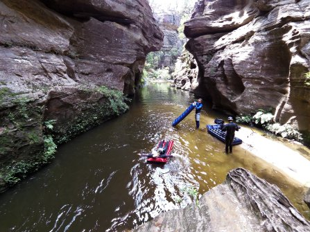 Canyoning can be so much hard work, especially waiting around while people try to repair their lilos.