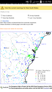 24Hr Rain Gauge Data Source: BOM