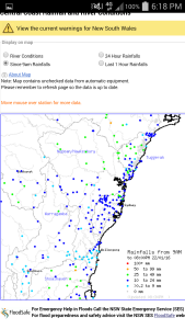 Rainfall Since 9am Source: BOM