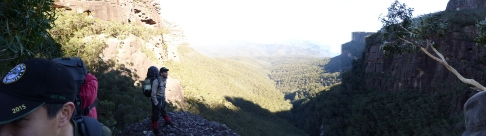 Looking down valleys
