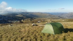 Camp on Twynam Saddle