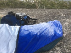 Frost on my bivvy bag